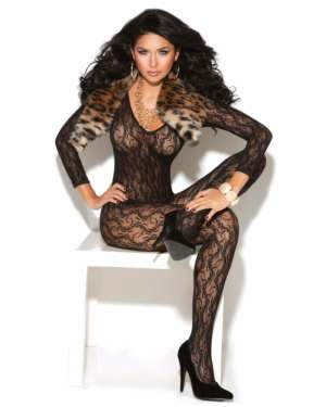 Elegant Moments Vivace Long Sleeve Lace Open Crotch Bodystocking