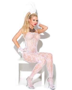 Elegant Moments Vivace Lace Bodystocking with Open Crotch