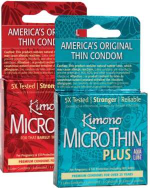 Kimono Condoms Variety Bundle of 6
