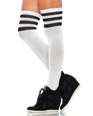 Leg Avenue Athletic Ribbed Thigh Highs