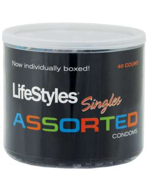 LifeStyles Assorted Latex Condoms Display of 40