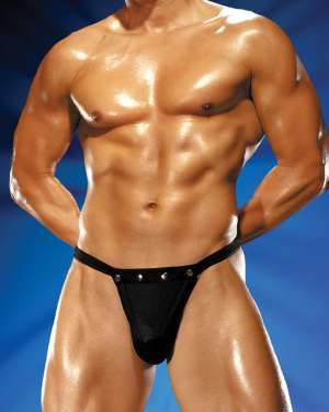 Male Power Rip Off Male Thong with Studs