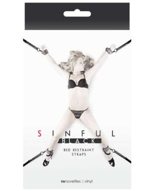 NS Novelties Sinful Bed Restraint Straps