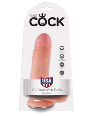 """King Cock 7"""" Cock with Balls"""