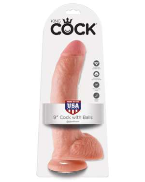 """King Cock 9"""" Cock with Balls"""