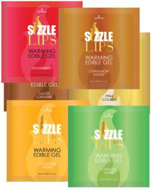 Sensuva Sizzle Lips Flavored Warming Massage Gel Sampler (Bundle of 6)