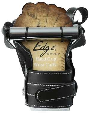 Sportsheets Edge Hand Grip Leather Wrist Cuffs