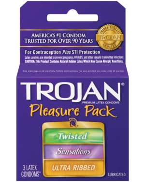 Trojan Pleasure Pack Latex Condoms