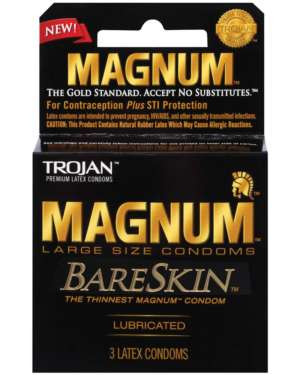 Trojan Magnum BareSkin Large Size Extra-Thin Lubricated Latex Condoms