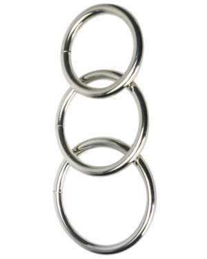 Master Series Trine Steel Cock-Ring Collection (Pack of 3)