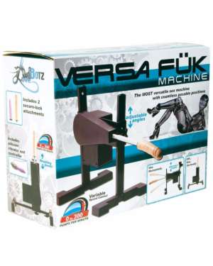 LoveBotz Versa Fuk Deluxe Supercharged Sex Machine Kit with Free Lubricant Bundle