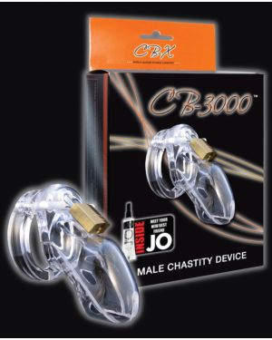 CB-X CB-3000 Cock Cage and Lock Male Chastity Set 3""