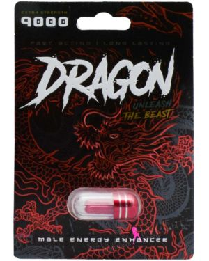 Dragon 9000 Unleash the Beast Male Sex Supplement (Clearance)