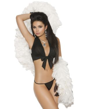 Elegant Moments Vivace Pleated Chiffon Tie-Top and G-String Set (Clearance)