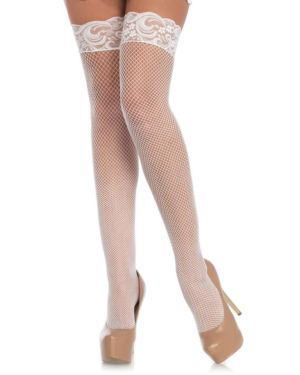 Leg Avenue Fishnet Lace Top Thigh Highs