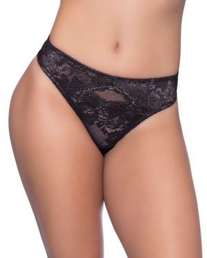 Oh la la Cheri Josilyn Lace Scalloped Edge Keyholes Thong