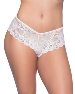 Oh la la Cheri Suzette Soft Textured High Leg Lace Tanga Panties