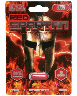 Red Spartan 3000 Male Enhancement Sex Supplement (Clearance)