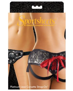 Sportsheets Platinum Lace Corset Strap On Style #04