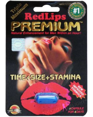 SX Power Red Lips Premium Black Male Enhancement Sex Supplement (Clearance)