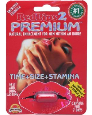 SX Power Red Lips 2 Premium Red Male Enhancement Sex Supplement (Clearance)