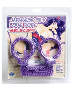 Topco Japanese Silk Love Rope Ankle Cuffs