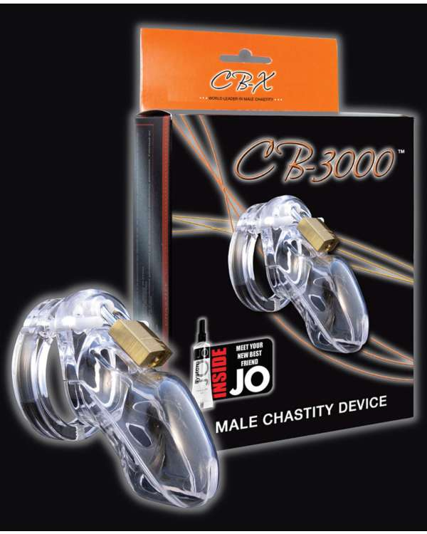 CB-X CB-3000 Cock Cage and Lock Male Chastity Set 3