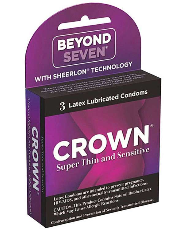 Beyond Seven Crown Lubricated Latex Condoms