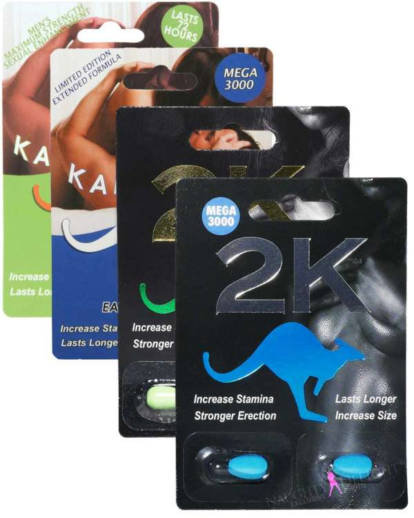 Kangaroo Male Enhancement Sex Supplement Sampler (Bundle of 6 Tablets)