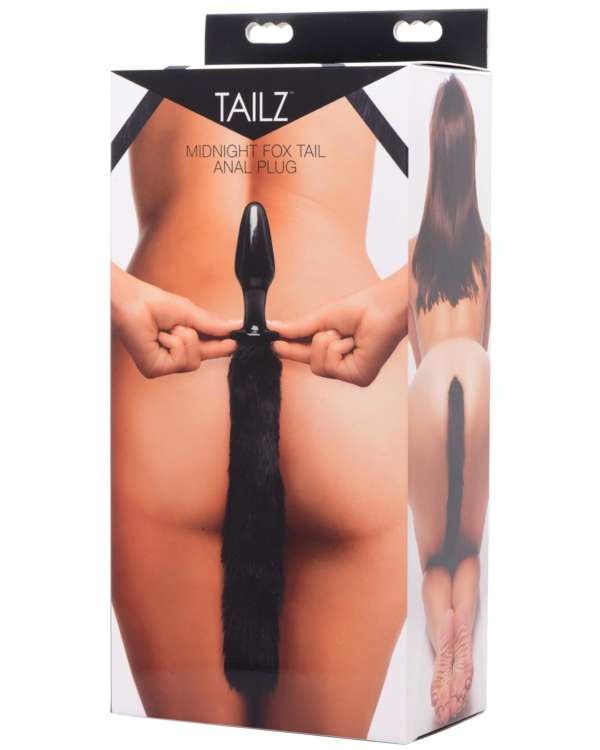 Tailz Midnight Fox Tail Glass Anal Plug