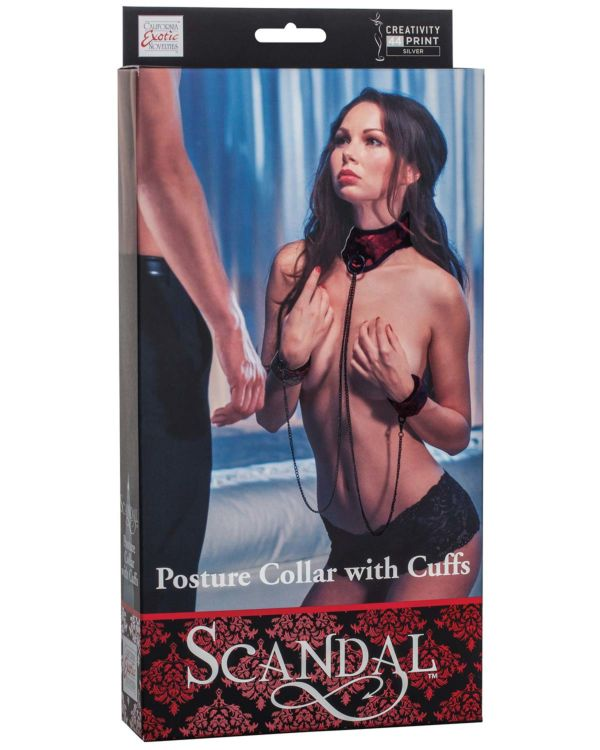 Scandal Posture Collar with Cuffs Set