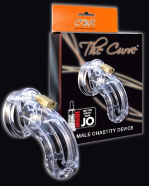 """CB-X The Curve Cock Cage and Lock Male Chastity Set 3.75"""""""