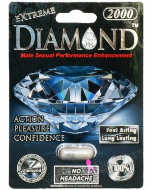 Diamond Extreme Platinum 2000 Male Enhancement Sex Supplement (Clearance)