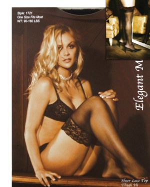 Elegant Moments Sheer Lace Top Thigh Highs