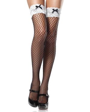 Leg Avenue French Maid Industrial Net Thigh Highs