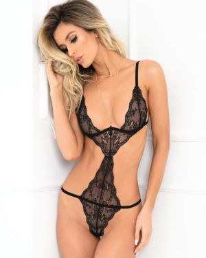 Rene Rofe Wham Bam Straps and Lace Body Jewelry Teddy