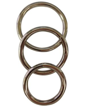 Sportsheets Seamless Metal O-Rings Pack of 3