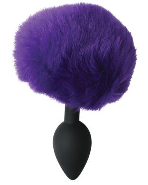 Sportsheets Sincerely Silicone Bunny Butt Plug with Real Fur