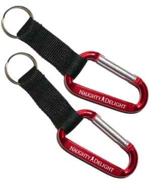 Naughty Delight Aluminum Carabiner with Strap and Key Ring (Pack of 2)