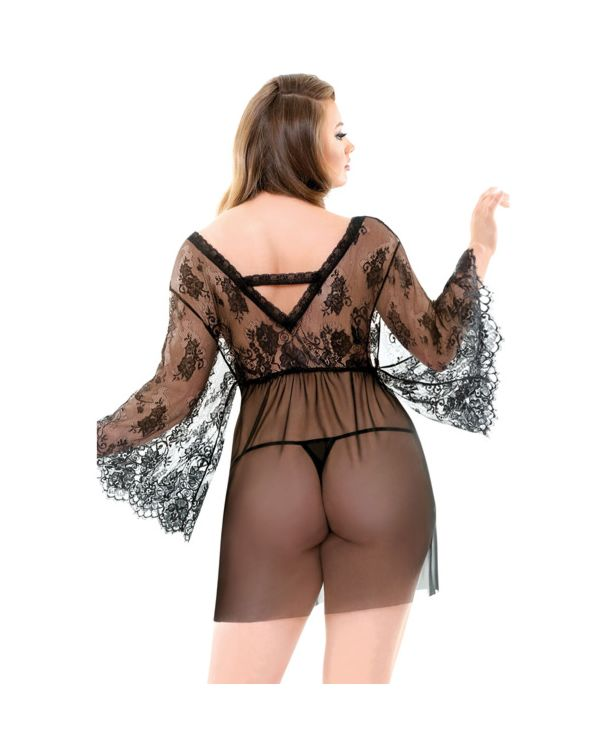 Curve Courtney Lace Robe and G-String
