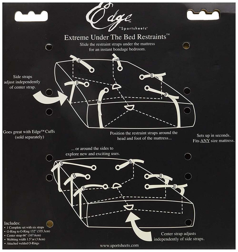 Sportsheets Edge Extreme Under the Bed Restraints Instructions
